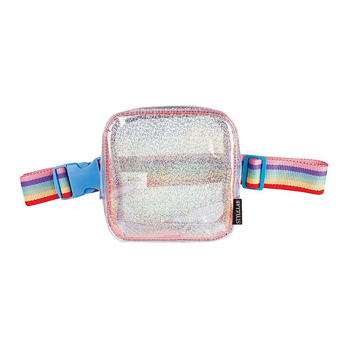 Sparkle Transp. Square Belt Bag