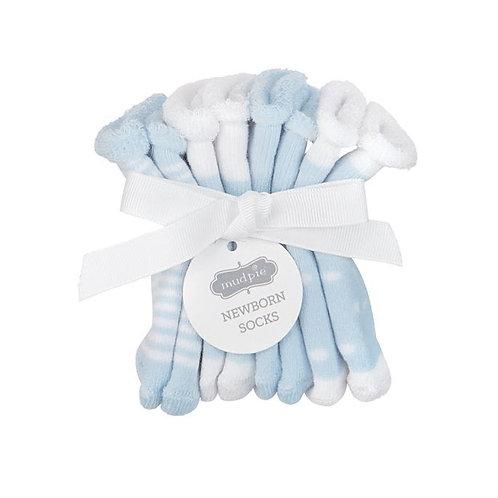 Blue Newborn Sock Set