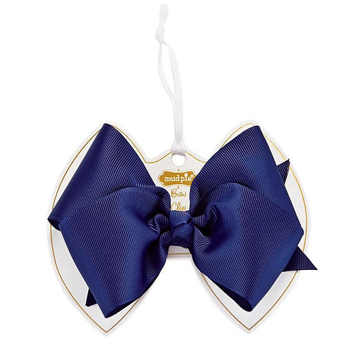 Ink Blue Bow Clip