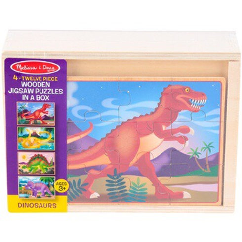 4 Jigsaw Puzzles In A Box- Dinosaurs 3791