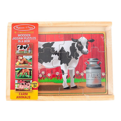4 Jigsaw Puzzles In A Box- Farm Animals 3793