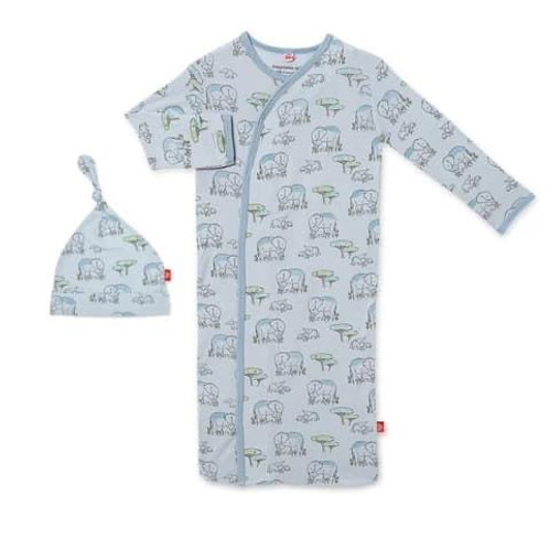 Blue Love You A Ton Magnetic Sack Gown & Hat
