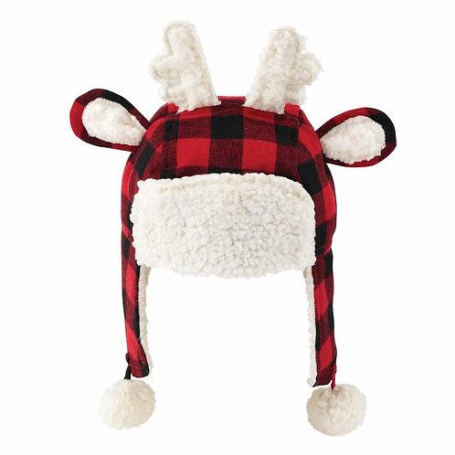 Buffalo Check Reindeer Hat