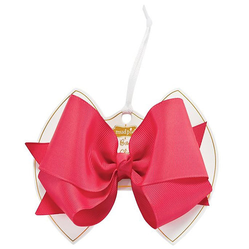 Shocking Pink Bow Clip