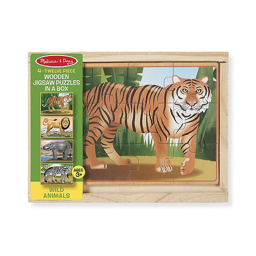 4 Jigsaw Puzzles In A Box- Wild Animals 3796