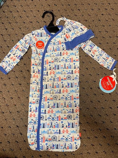 Blue Globetrotter Modal Magnetic Gown Set