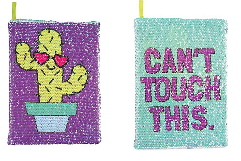 Cactus/Can't Touch Magic Sequin Journal