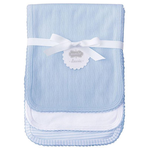 Blue Pointelle Burp Cloths