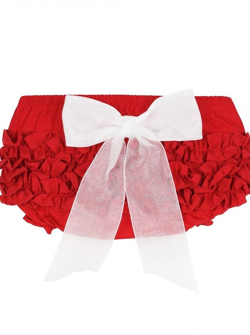 Red w/Bow Ruffle Butts Bloomer