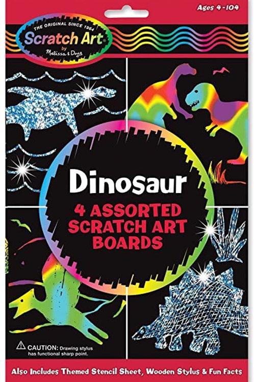 Dinosaur Scratch Art Boards