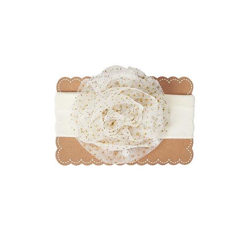 Ivory Jumbo Puff Headband