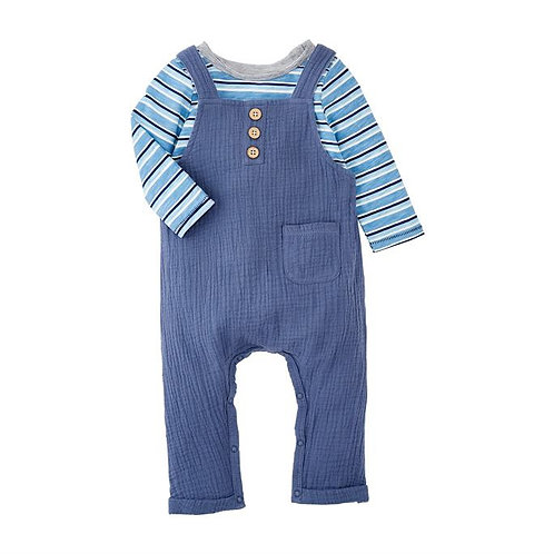 Blue Overall Stripe Set