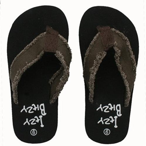 Brown Fray Flip Flop for Boys or Girls
