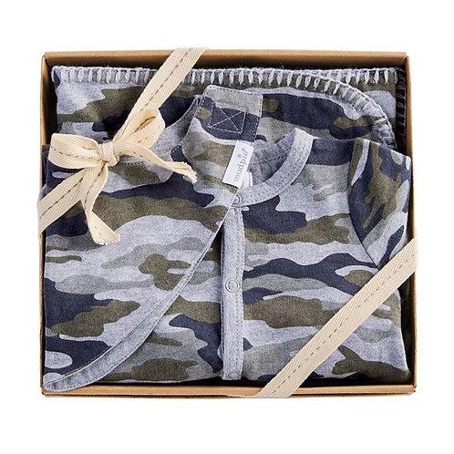 Camo Sleeper Bib Blanket Set 0/3m