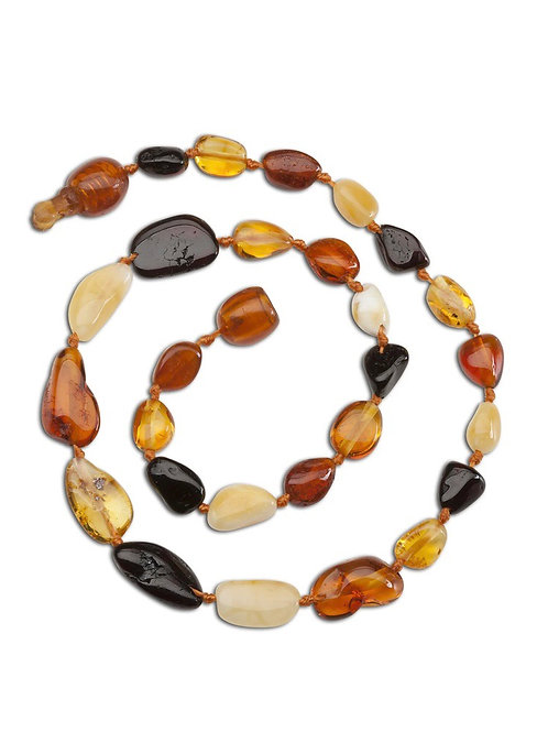 Amber Teething Necklace -ATNP-Multi-MED