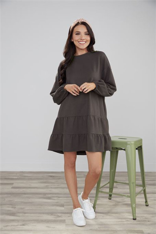 Black Kristy Sweatshirt Dress