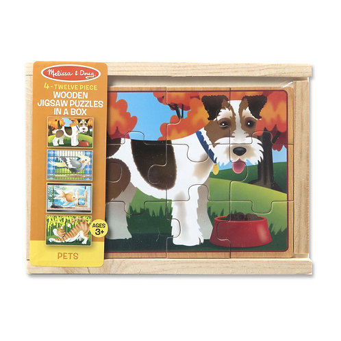 4 Jigsaw Puzzles In A Box- Pets 3790