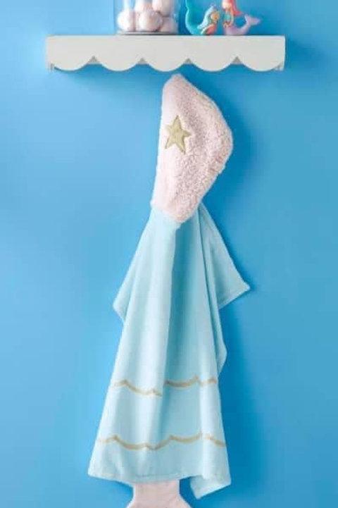 Baby Mermaid Hooded Towel