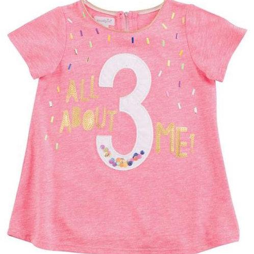3 Birthday TShirt 3t