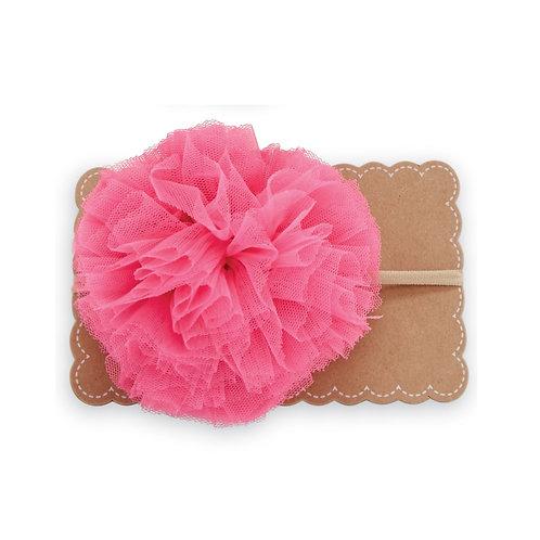 Hot Pink Large Puff Headband
