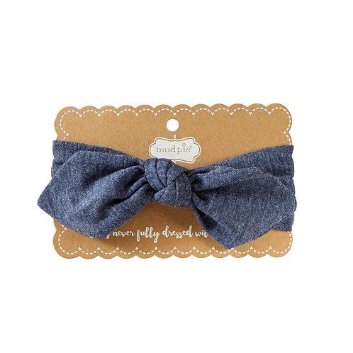 Navy Jersey Headband