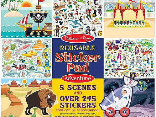 Adventure Reusable Stickers