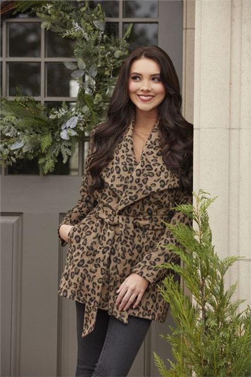 Albany Leopard Coat Tan