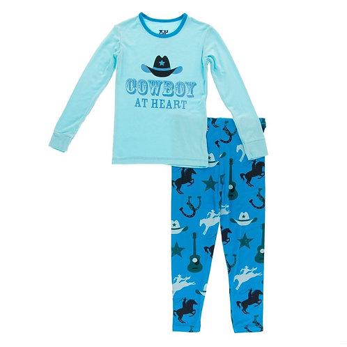 Amazon Cowboy LS Pajama Set