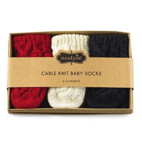Boy Cable Knit Sock Set