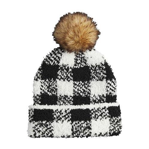 Black Buffalo Check Hat