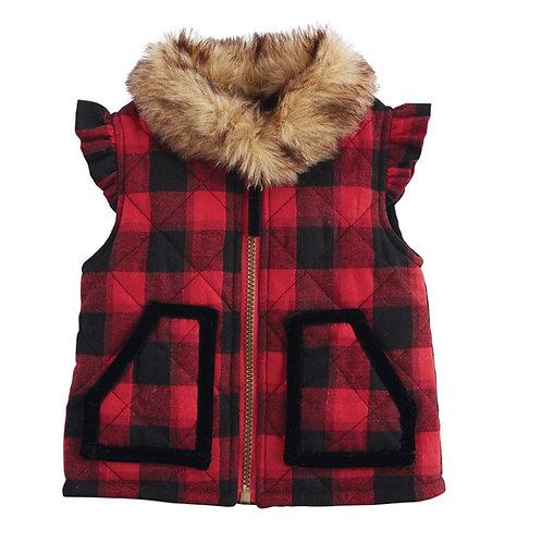 Buffalo Check Girl Vest