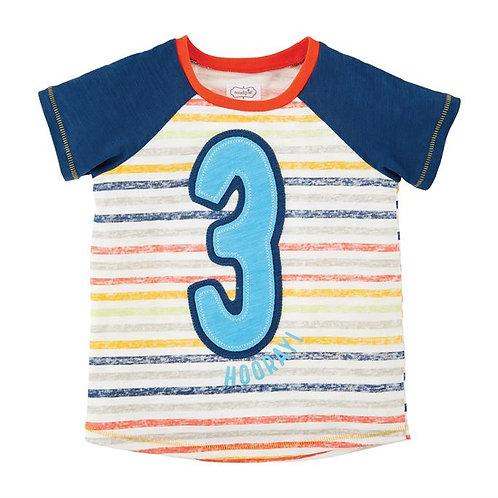 Boy Three Birthday Shirt