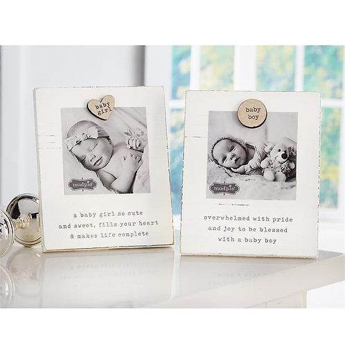 Baby Magnet Wood Frame