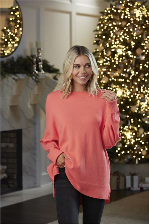 Astrid Ribbed Sweater Pink One Size