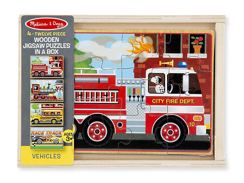 4 Jigsaw Puzzles In A Box-  Vehicles 3794