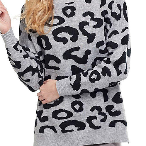 Baye Leopard Sweater Gray