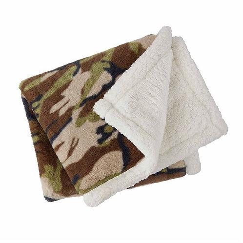 Camo Faux Fur Blanket