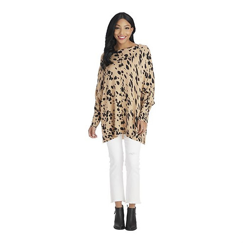 Adele Leopard Sweater Tan One Size