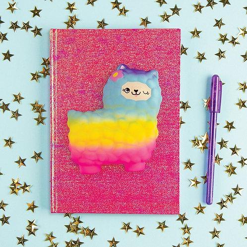 Alpaca Rainbow Squish Journal