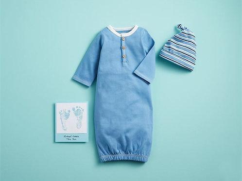 0/3 Blue Henley Gown/Hat