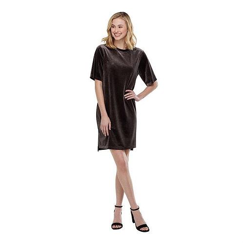 Bennett Velvet Dress- Gray