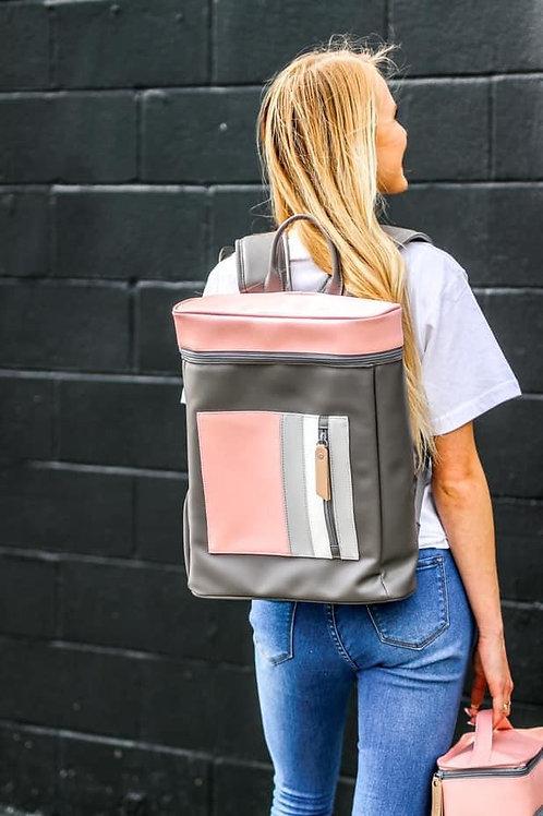 Brooke Grey/Pink Backpack