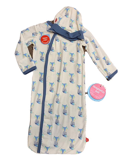 Blue Cool As Fox Modal Magnetic Gown Set