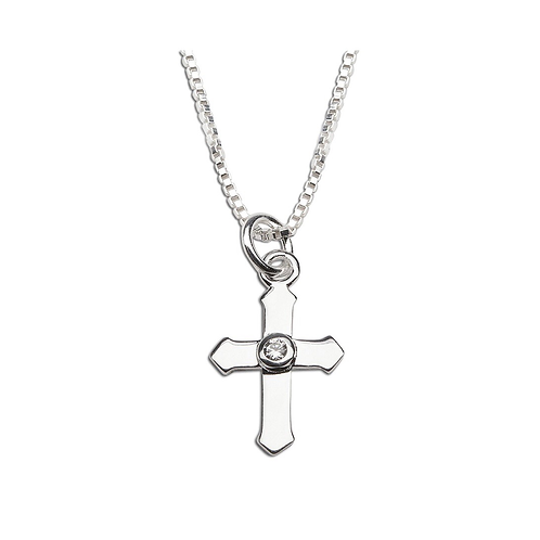 "Cross Necklace 14"""