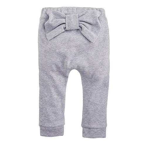 Grey Bow Pants