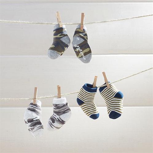Camo Newborn Sock Set