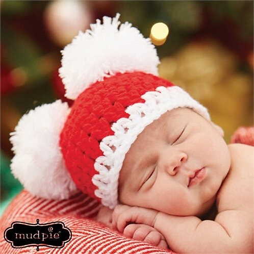 Christmas Pom Pom Hat
