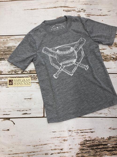 Baseball Grey Tee