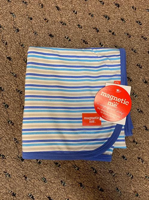 Blue Stripe Globetrotter Modal Swaddle Blanket