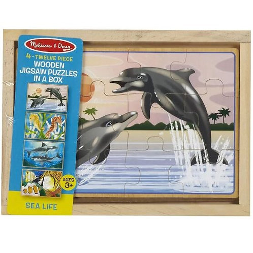 4 Jigsaw Puzzles In A Box- Sea Life 3795